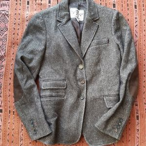 Banana Republic brown tweed blazer Elbow patches 6